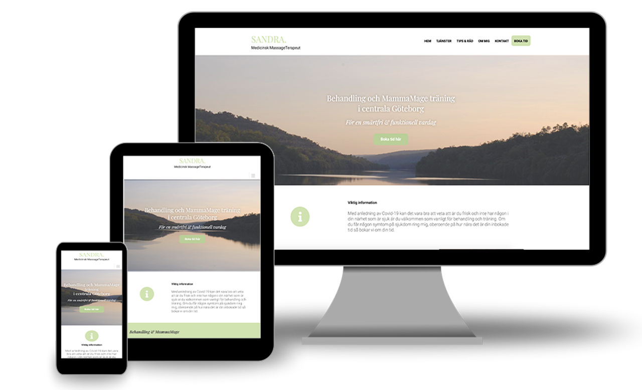 Responsive Web Design Sandra Massageterapeut